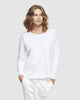 shop ethical sustainable & ethical clothing by Cloth & Co. Crew Neck Long Sleeve | White
