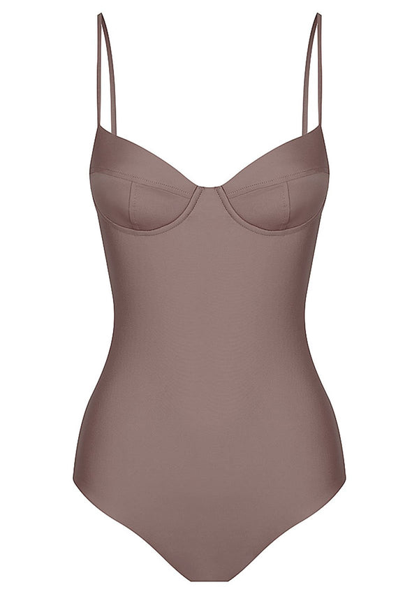 shop ethical sustainable & ethical clothing by Baythe Swim Cocoa Balconette One Piece Swimsuit
