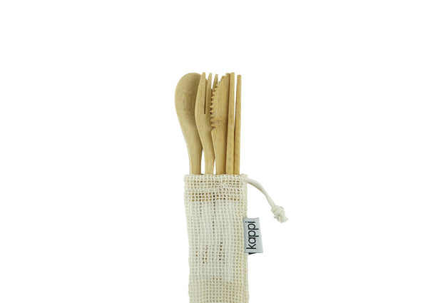 shop ethical sustainable & ethical clothing by Kappi Reusable Wooden Cutlery Set