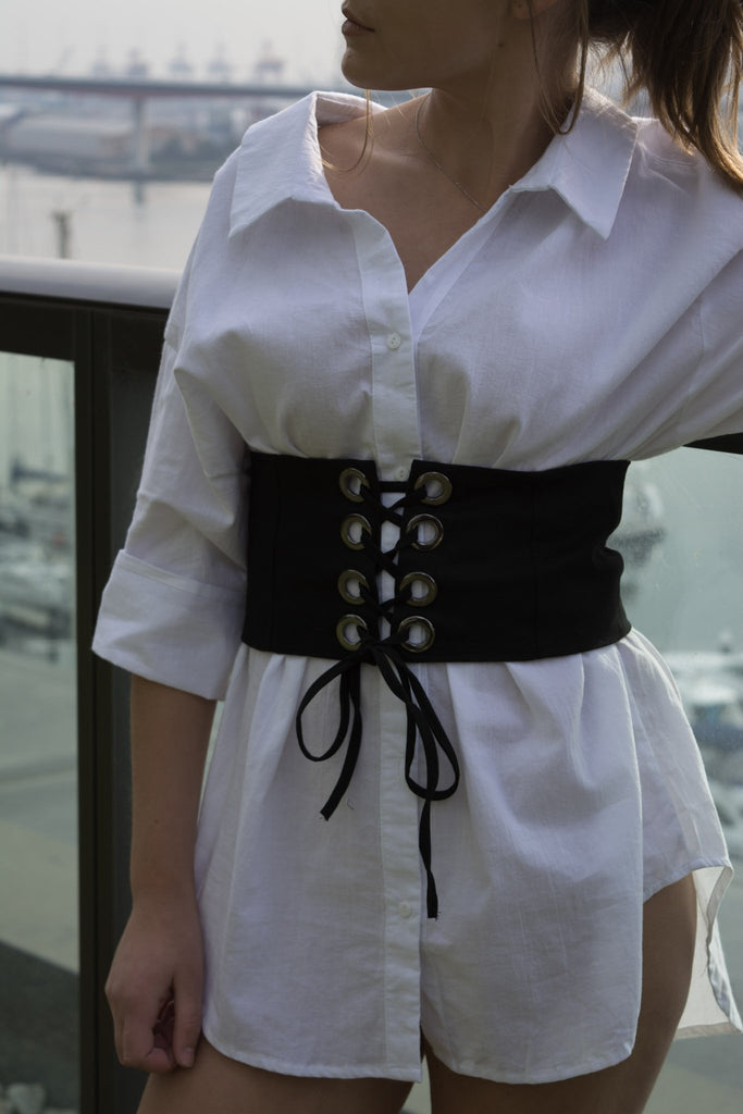 shop ethical sustainable & ethical clothing by MIN THE LABEL Corset Belt