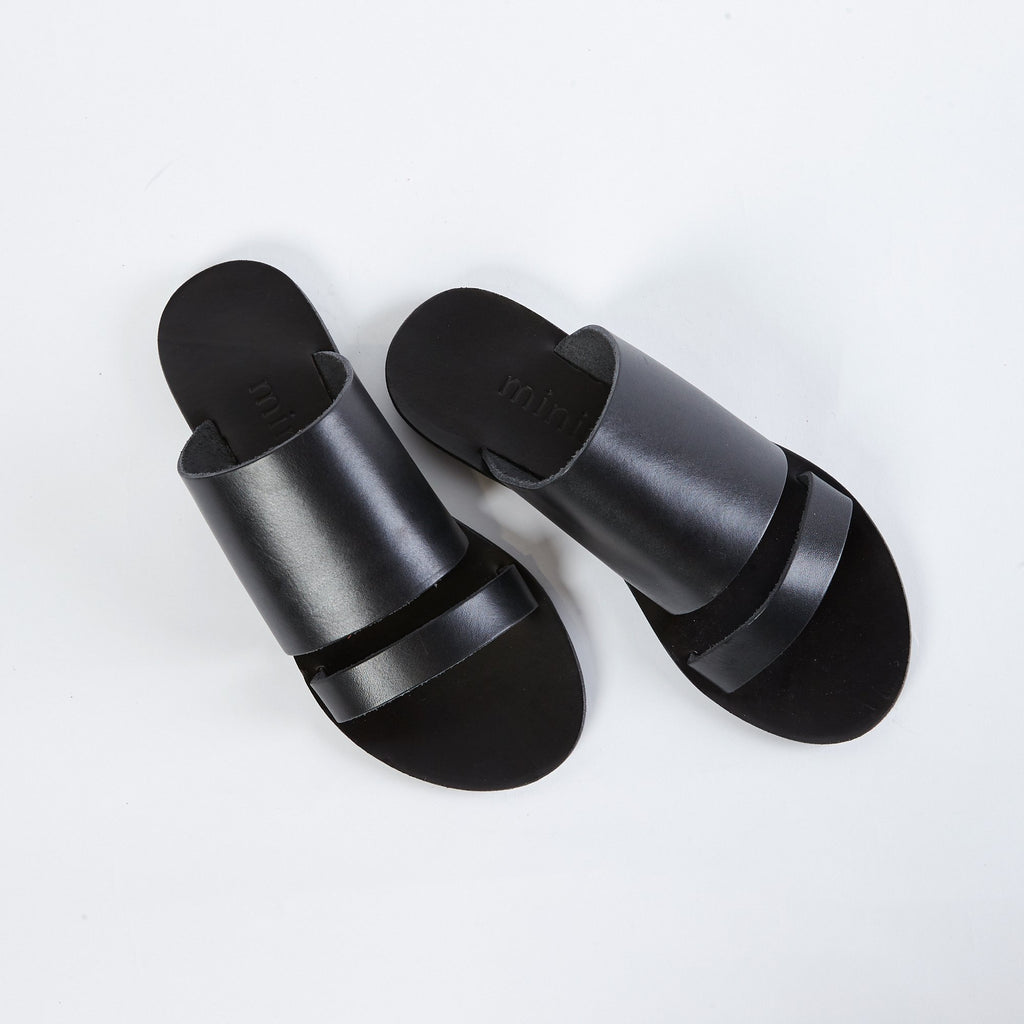 shop ethical sustainable & ethical clothing by MINIMA HANDCRAFTED Dion Slide Black