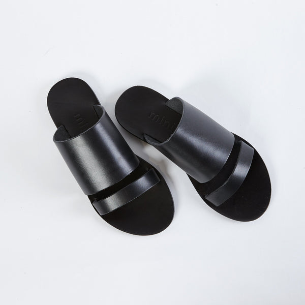 shop ethical sustainable & ethical clothing by MINIMA HANDCRAFTED Dion Slide | Black
