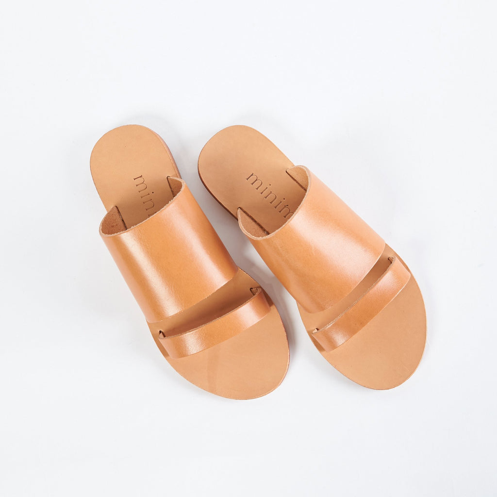 shop ethical sustainable & ethical clothing by MINIMA HANDCRAFTED Dion Slide | Tan