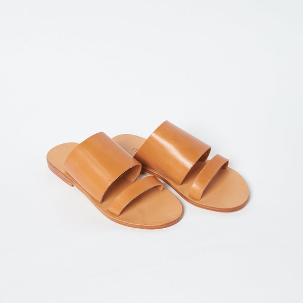 shop ethical sustainable & ethical clothing by MINIMA HANDCRAFTED Dion Slide Tan