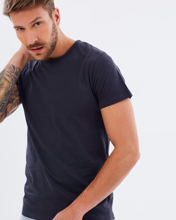 shop ethical sustainable & ethical clothing by Cloth & Co. Mens T-Shirt | French Navy