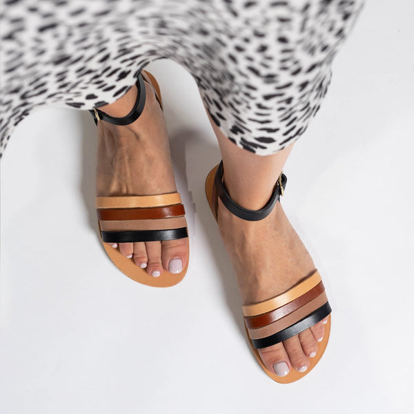 shop ethical sustainable & ethical clothing by Minima Handcrafted Giorgia Sandal Natural