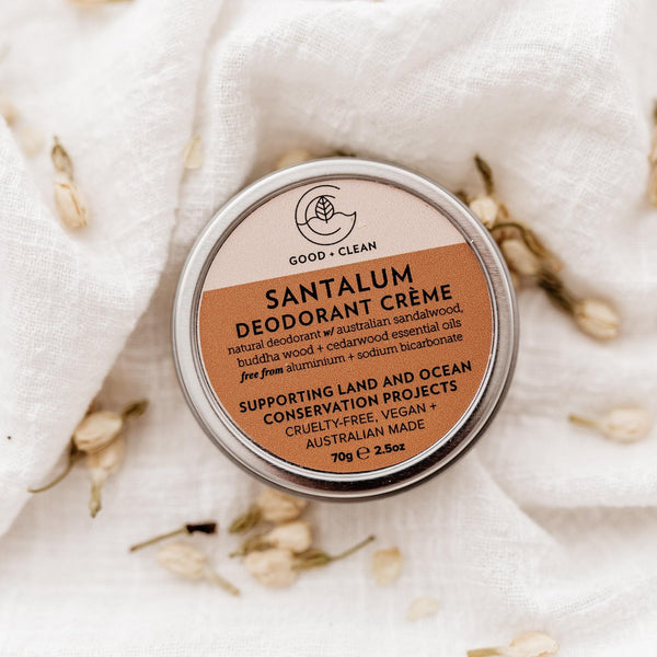shop ethical sustainable & ethical clothing by Good & Clean SANTALUM DEODORANT CRÈME