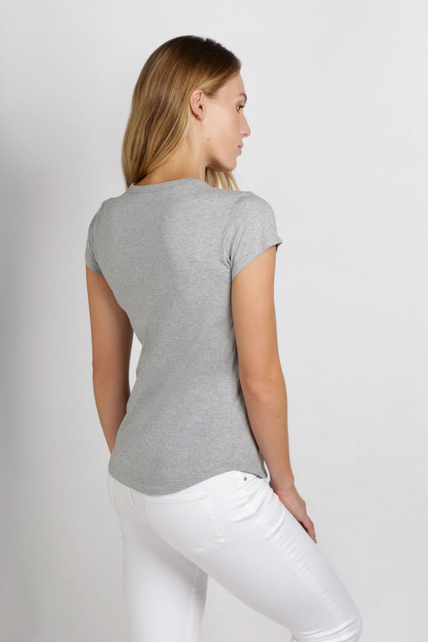 shop ethical sustainable & ethical clothing by Twill and Tee Basic Crew Tee | Grey Marle