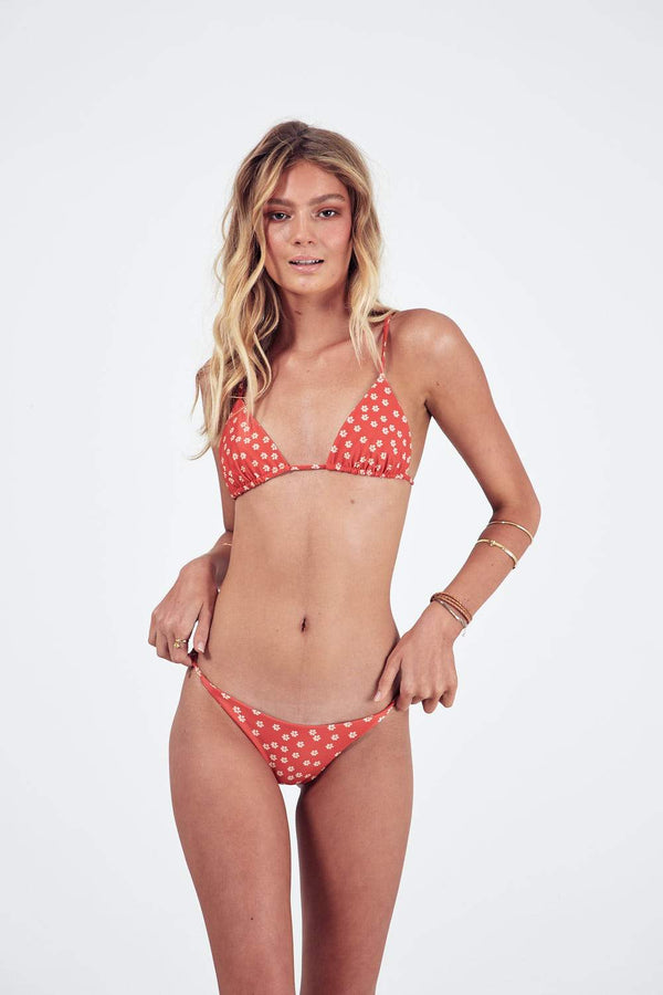 shop ethical sustainable & ethical clothing by The Halcyon Daze Byron Bay Lovers String Bottoms - Red Daisy