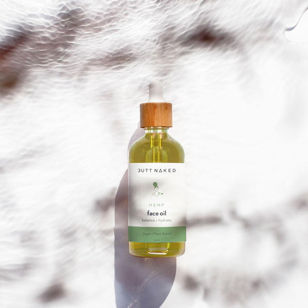 shop ethical sustainable & ethical clothing by Butt Naked Skinfood Hemp Face Oil