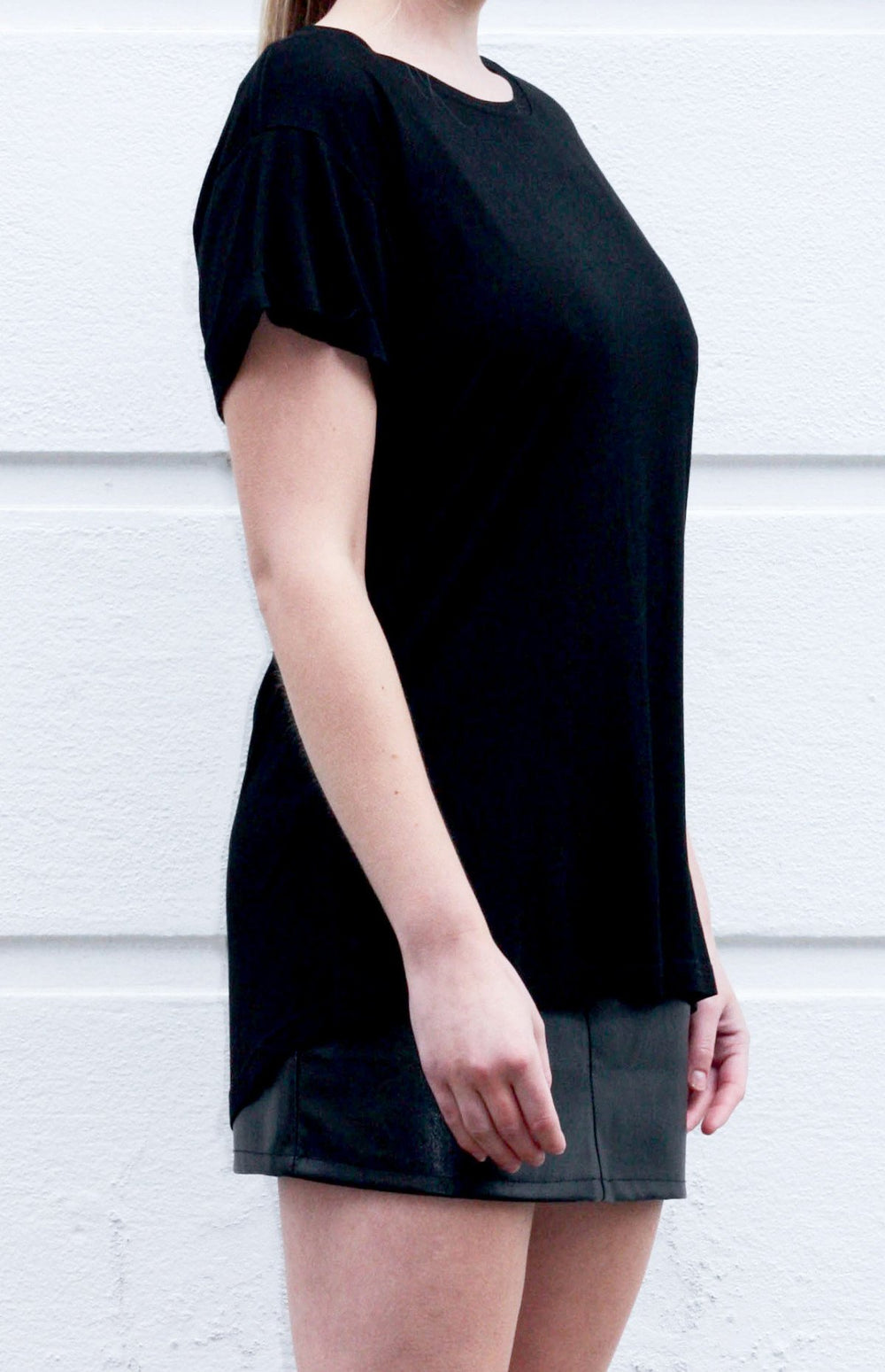 shop ethical sustainable & ethical clothing by UNCLE may CLEO bamboo crew neck tee