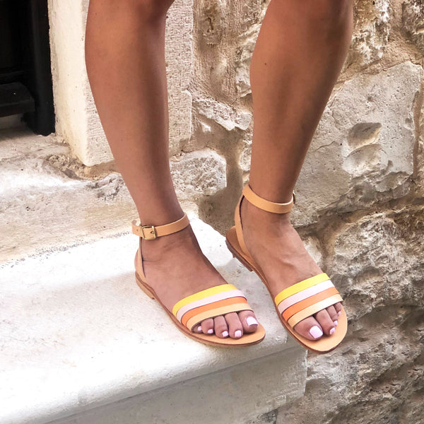 shop ethical sustainable & ethical clothing by Minima Handcrafted Giorgia Sandal Yellow