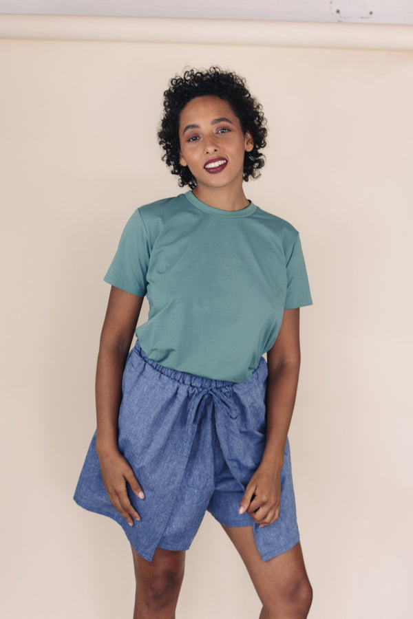 shop ethical sustainable & ethical clothing by UNCLE may KIKI Cotton Crew Neck Tee