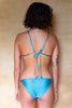shop ethical sustainable & ethical clothing by The Halcyon Daze Byron Bay Ibiza String Bikini Top - Shimmery Blue