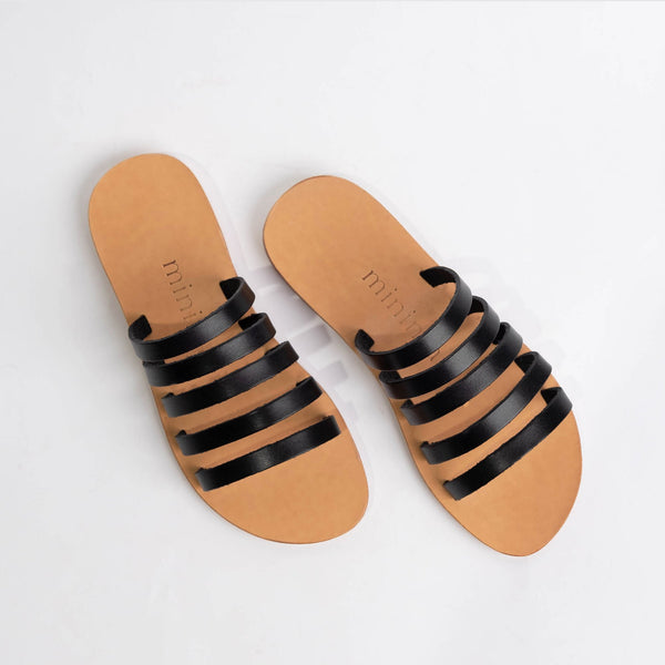 shop ethical sustainable & ethical clothing by Minima Handcrafted Jamie Slide Black