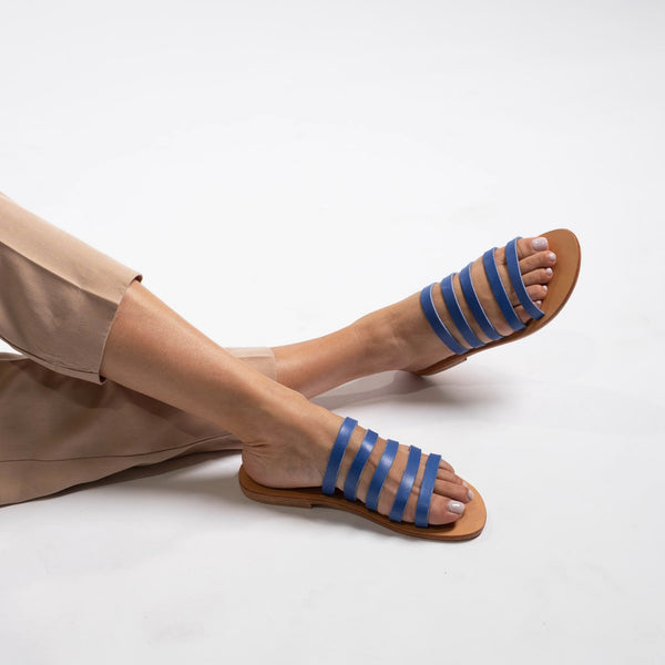 shop ethical sustainable & ethical clothing by Minima Handcrafted Jamie Slide Royal Blue