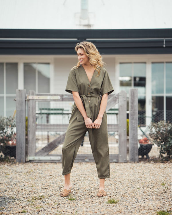 shop ethical sustainable & ethical clothing by Indecisive the label Surplus Kahlo Jumpsuit