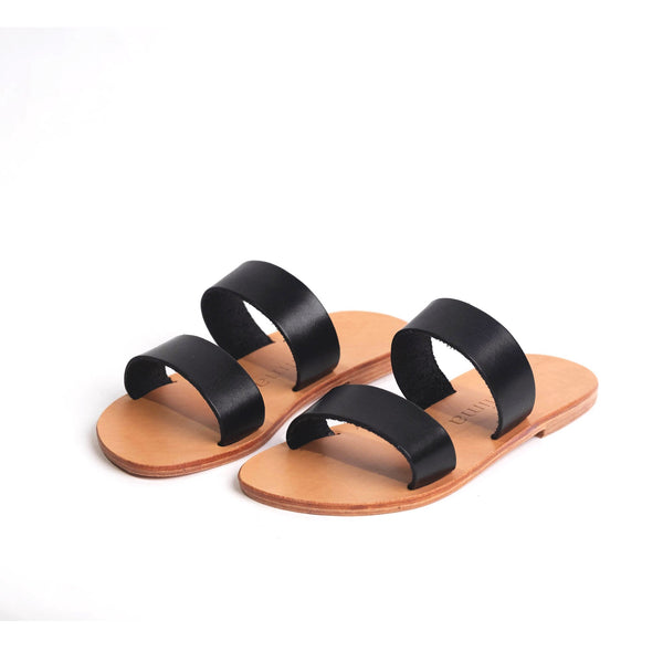 shop ethical sustainable & ethical clothing by Minima Handcrafted Kelly Slide Black