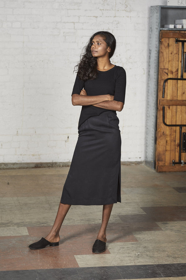 shop ethical sustainable & ethical clothing by Lois Hazel Straight Skirt, Black