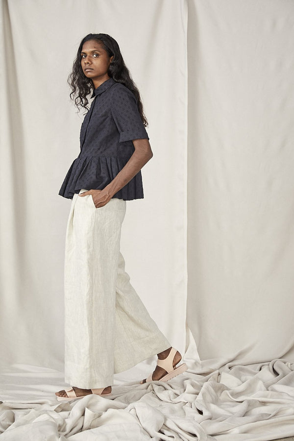 shop ethical sustainable & ethical clothing by Lois Hazel Fold Trousers, Beige