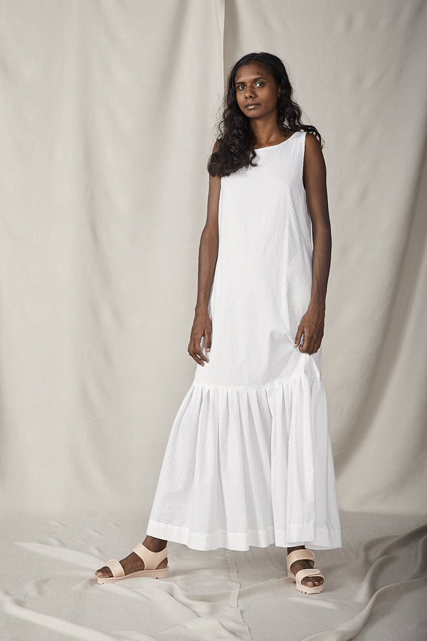 shop ethical sustainable & ethical clothing by Lois Hazel Fold Dress, White