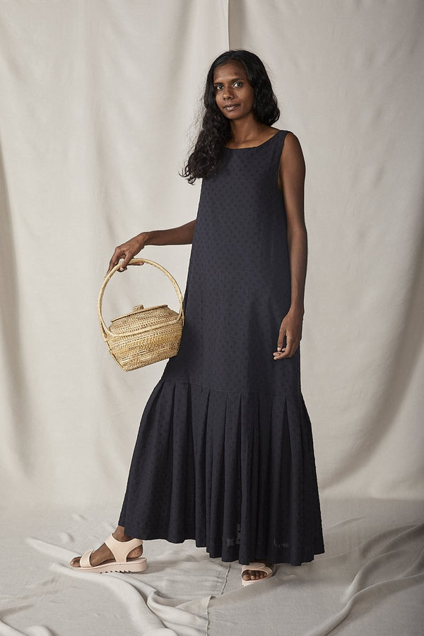 shop ethical sustainable & ethical clothing by Lois Hazel Fold Dress, Black
