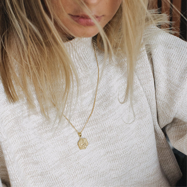 shop ethical sustainable & ethical clothing by La Luna Rose Jewellery St Jude - Patron Saint of Hope & The Impossible - Gold