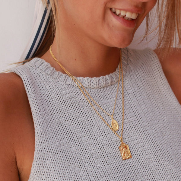 shop ethical sustainable & ethical clothing by La Luna Rose Jewellery St Nicholas - Patron Saint of Children - Gold
