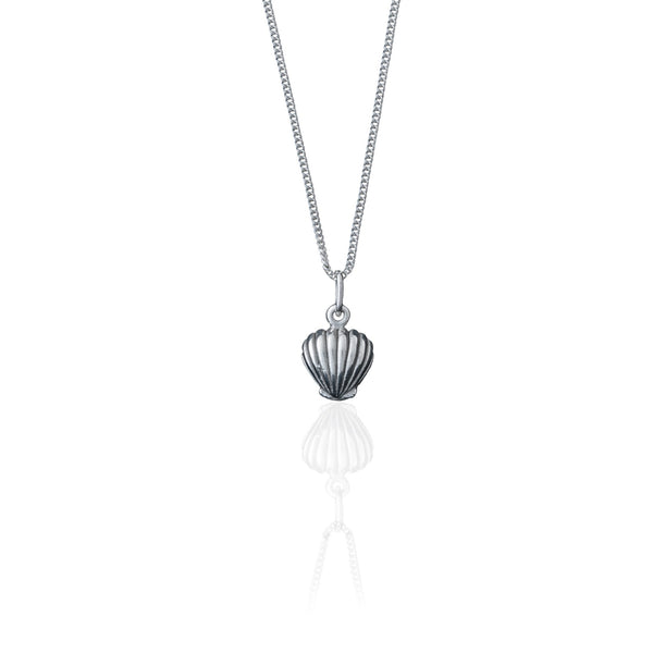 shop ethical sustainable & ethical clothing by La Luna Rose Jewellery Shell We Dance? Necklace (Silver)