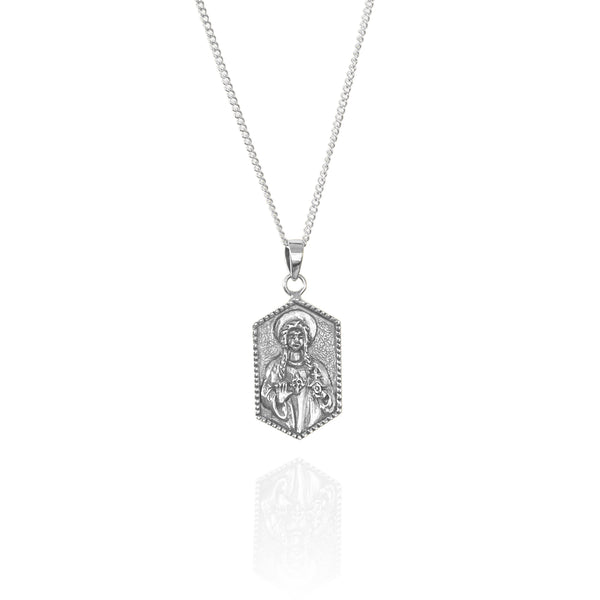 shop ethical sustainable & ethical clothing by La Luna Rose Jewellery St Dwynwen - Patron Saint of Lovers - Silver