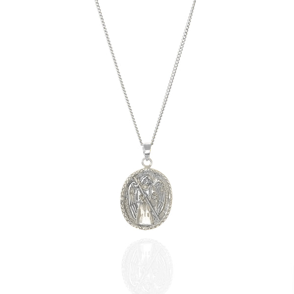 shop ethical sustainable & ethical clothing by La Luna Rose Jewellery St Raphael - Patron Saint of Happy Meetings, Doctors & Nurses - Silver