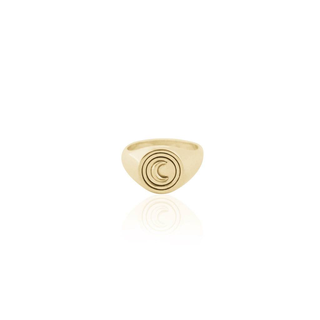 shop ethical sustainable & ethical clothing by La Luna Rose Jewellery Coconut and Bliss x La Luna Rose Luna Signet Ring - GOLD