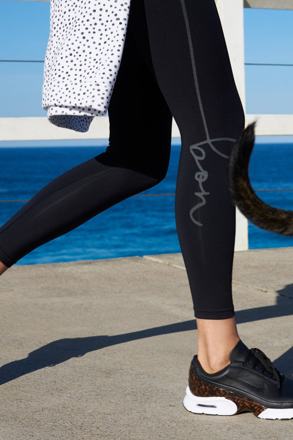 shop ethical sustainable & ethical clothing by bon bon Leggings 7/8th