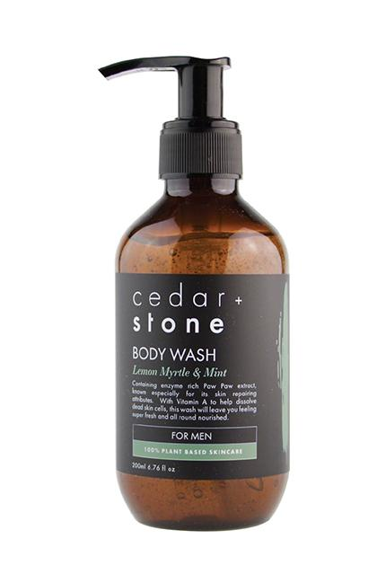 shop ethical sustainable & ethical clothing by CEDAR & STONE Lemon Myrtle + Mint Body Wash