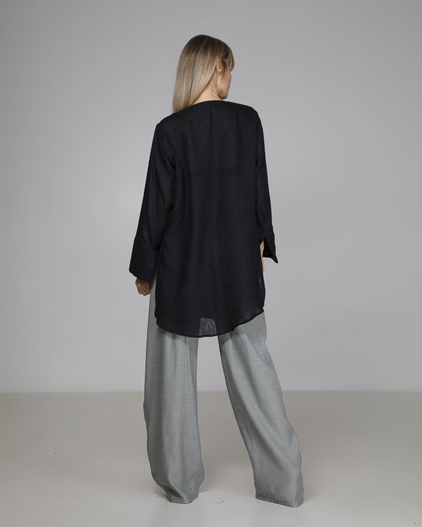 shop ethical sustainable & ethical clothing by Indecisive the label Limited Edition Fendell Blouse Black