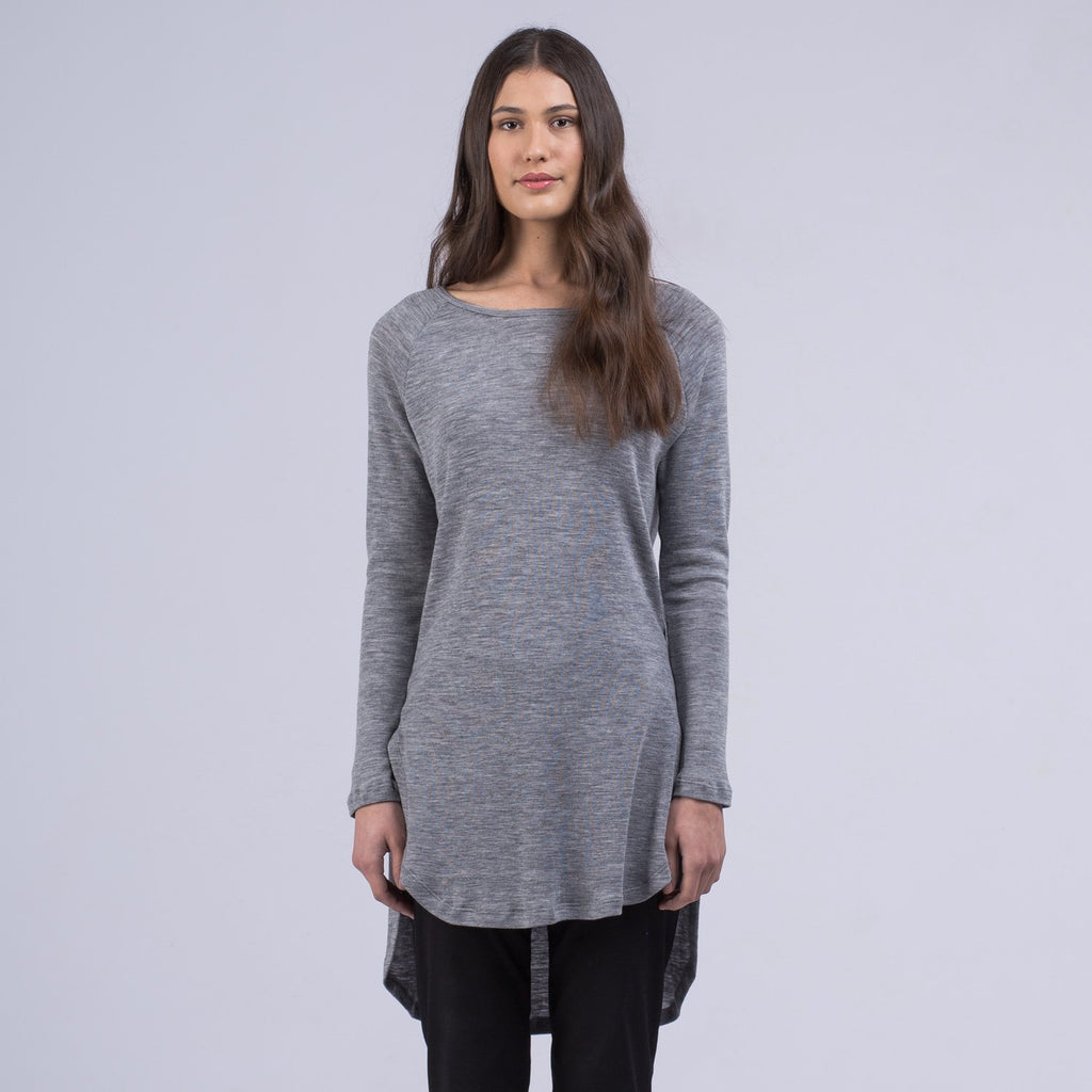shop ethical sustainable & ethical clothing by AVILA Merino Long pullover - Grey marle