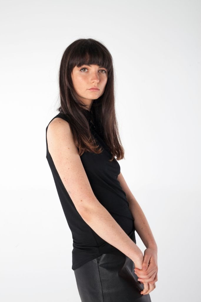 shop ethical sustainable & ethical clothing by UNCLE may HARPER high neck singlet top