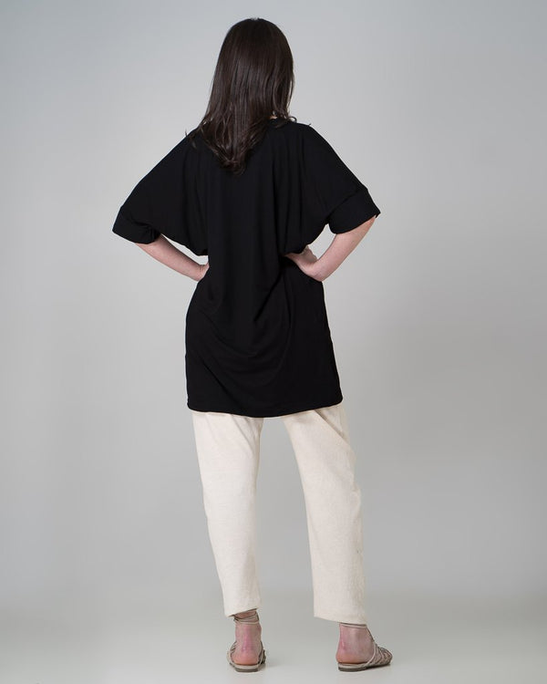 shop ethical sustainable & ethical clothing by INDECISIVE THE LABEL Organic Bamboo MM Top - Black