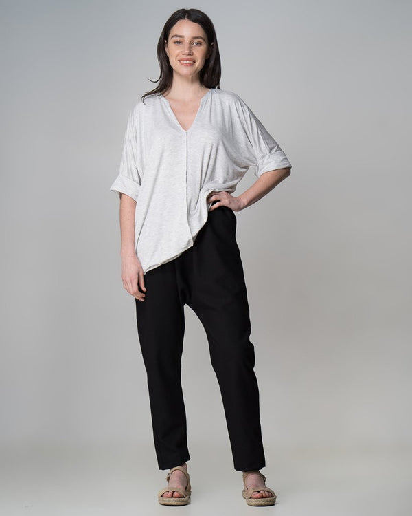shop ethical sustainable & ethical clothing by INDECISIVE THE LABEL Organic Bamboo MM Top - Grey