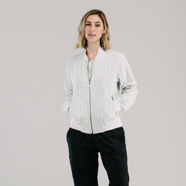 shop ethical sustainable & ethical clothing by Avila the label The always bomber jacket