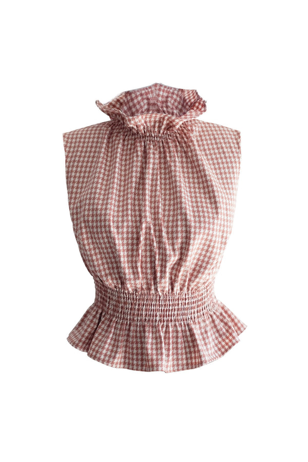 shop ethical sustainable & ethical clothing by OH SEVEN DAYS Monday Ruff Blouse Pink
