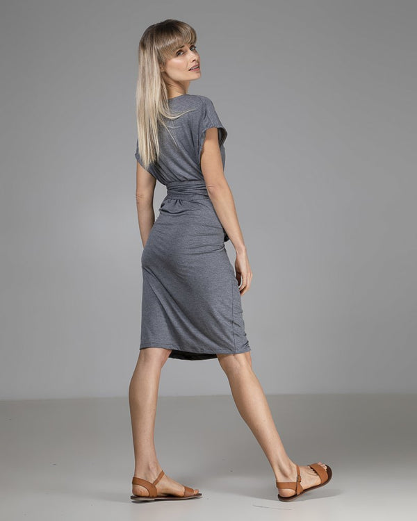 shop ethical sustainable & ethical clothing by INDECISIVE THE LABEL Organic Bamboo Maya Dress Dark Grey