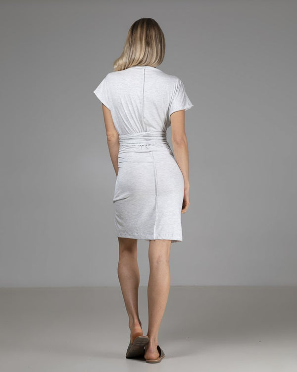 shop ethical sustainable & ethical clothing by Indecisive the label Organic Bamboo Maya Dress Grey