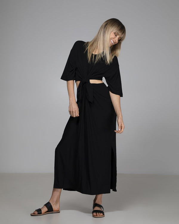 shop ethical sustainable & ethical clothing by Indecisive the label Organic Bamboo Tash Dress Black