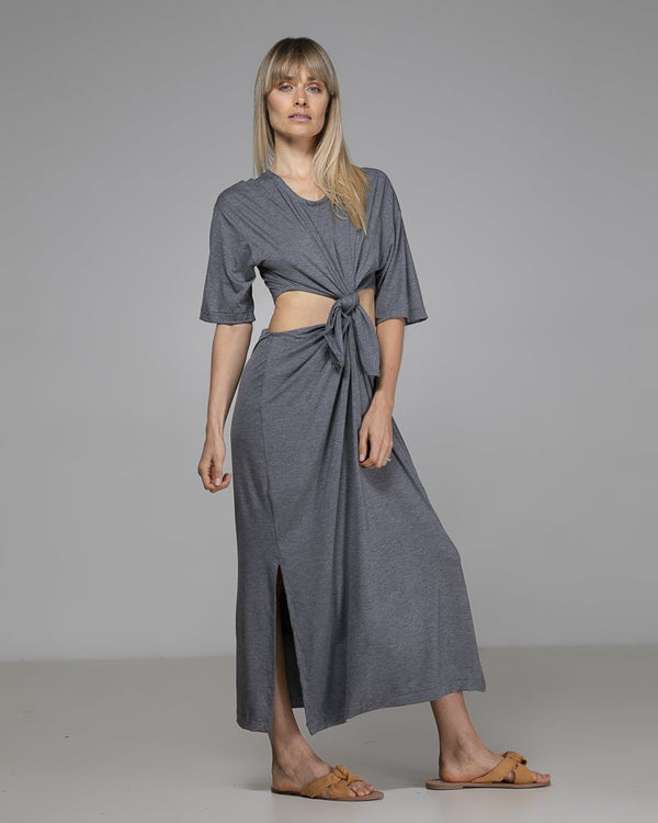 shop ethical sustainable & ethical clothing by Indecisive the label Organic Bamboo Tash Dress Grey