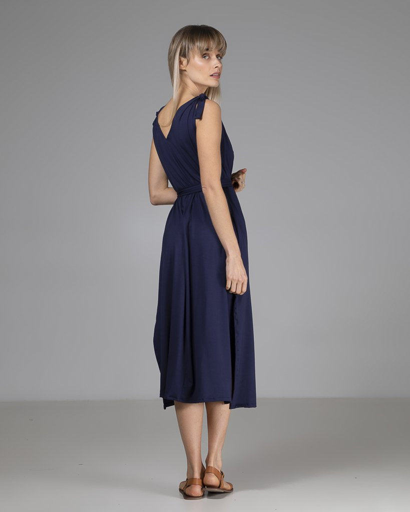 shop ethical sustainable & ethical clothing by INDECISIVE THE LABEL Organic Bamboo Vicky Dress Navy