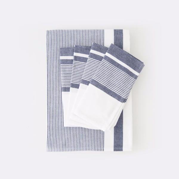 shop ethical sustainable & ethical clothing by Cloth & Co. Pondicherry Stripe Table Cloth