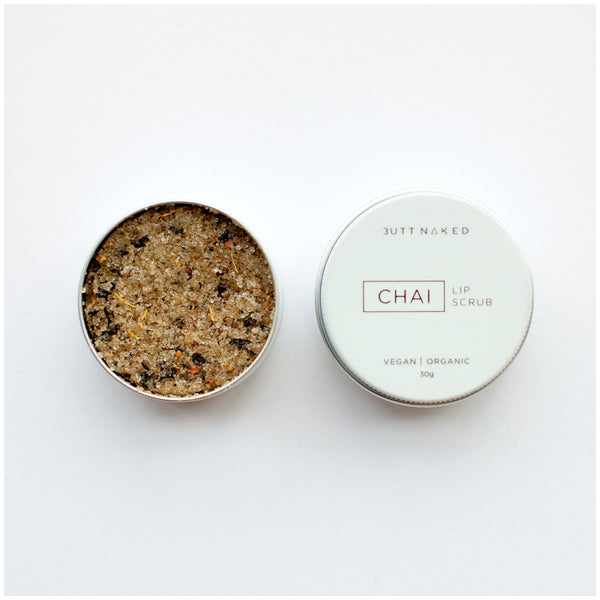 shop ethical sustainable & ethical clothing by Butt Naked Skinfood Chai Lip Scrub
