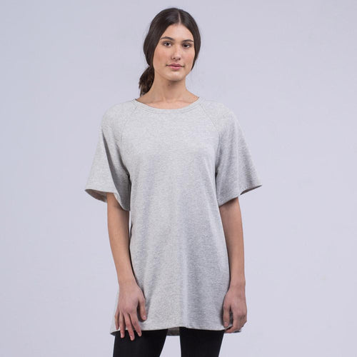 Luxe raglan pullover dress