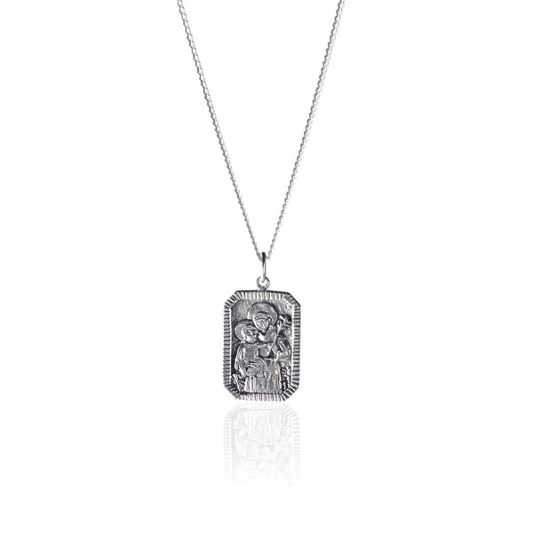 shop ethical sustainable & ethical clothing by La Luna Rose Jewellery St Anthony - Patron Saint of Miracles - Silver